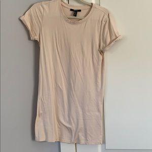 Pink T-shirt dress